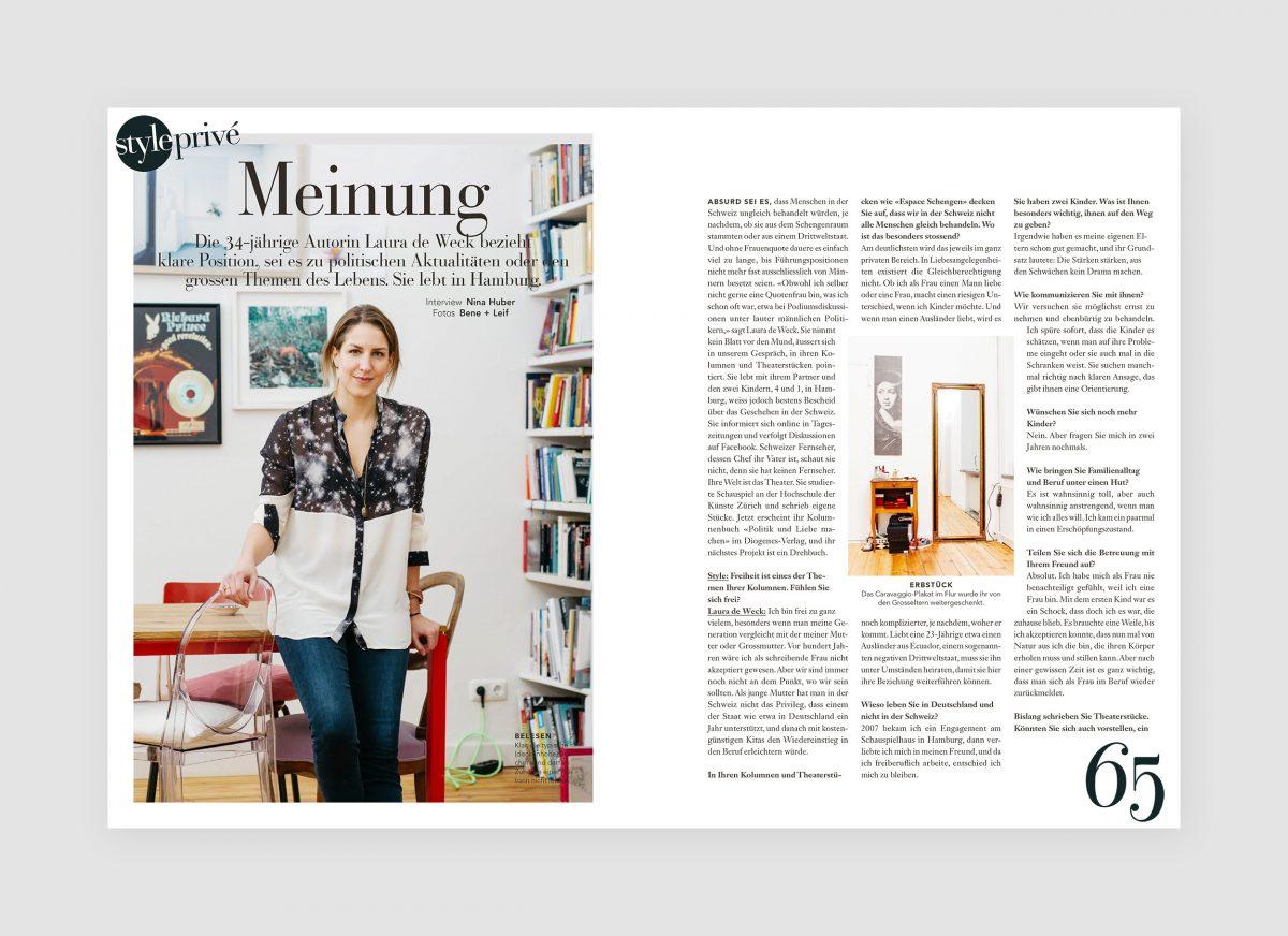 Portrait of Laura De Weck for Style Magazine